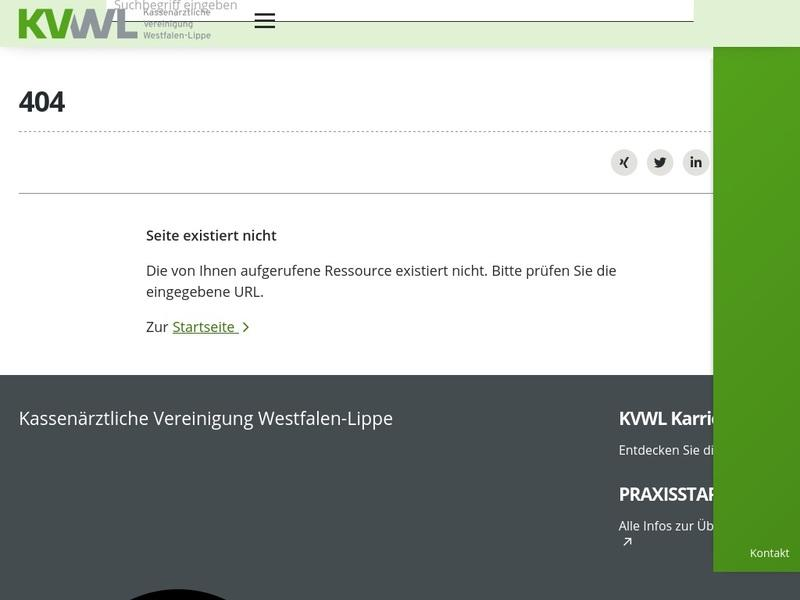 Screenshot von http://www.kvwl.de/patient/notdienste/index.htm